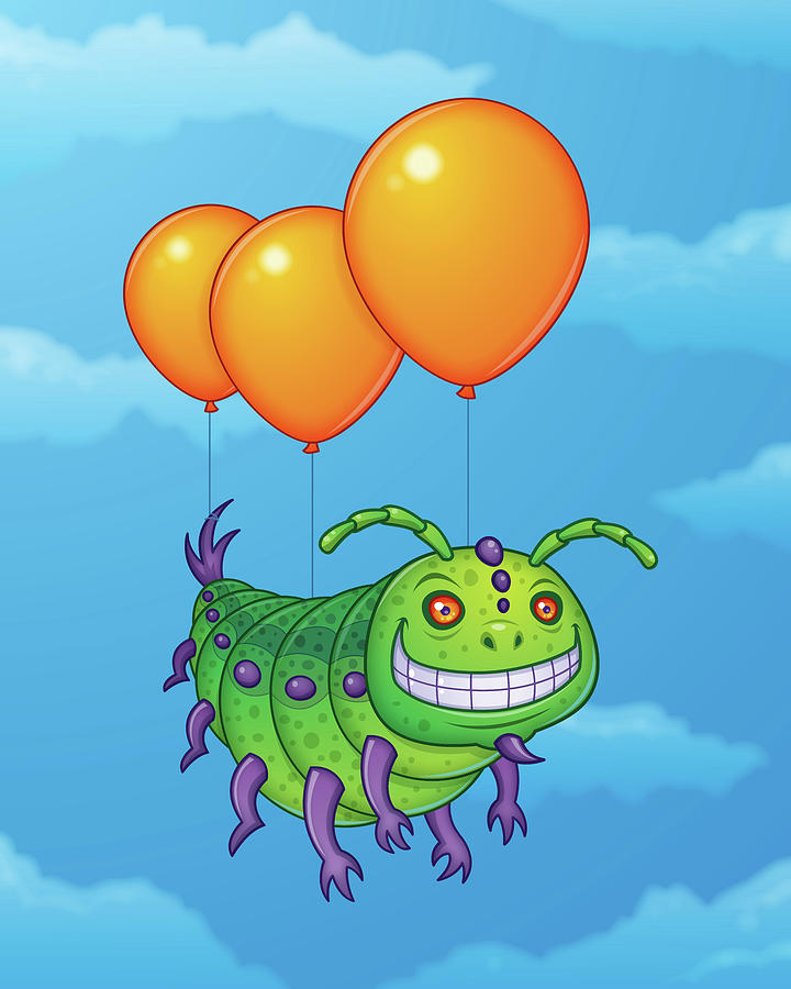 Impatient Caterpillar Digital Art