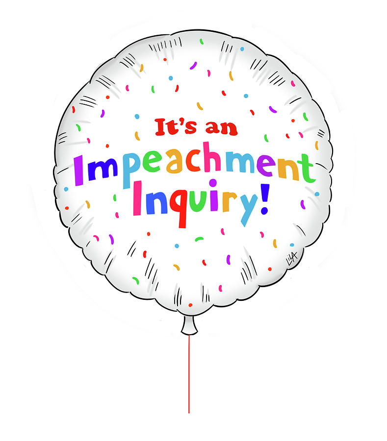 Impeachment Inquiry Painting by Lila Ash