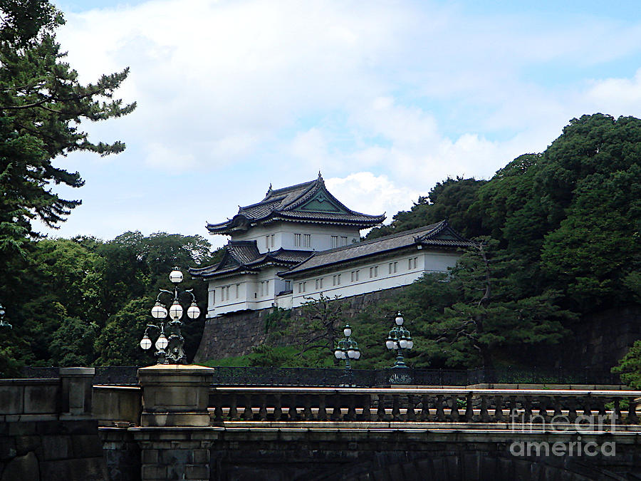 Imperial Palace and Nijubashi by Yvonne Johnstone