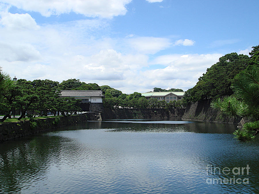 Imperial Palace Moat, Tokyo by Yvonne Johnstone