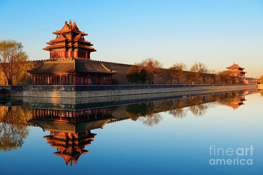 Color Photograph - Imperial Palace Over Lake In The by Songquan Deng
