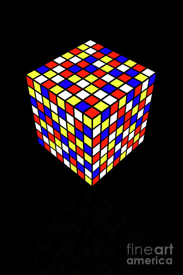 Impossible puzzle cube by Clayton Bastiani