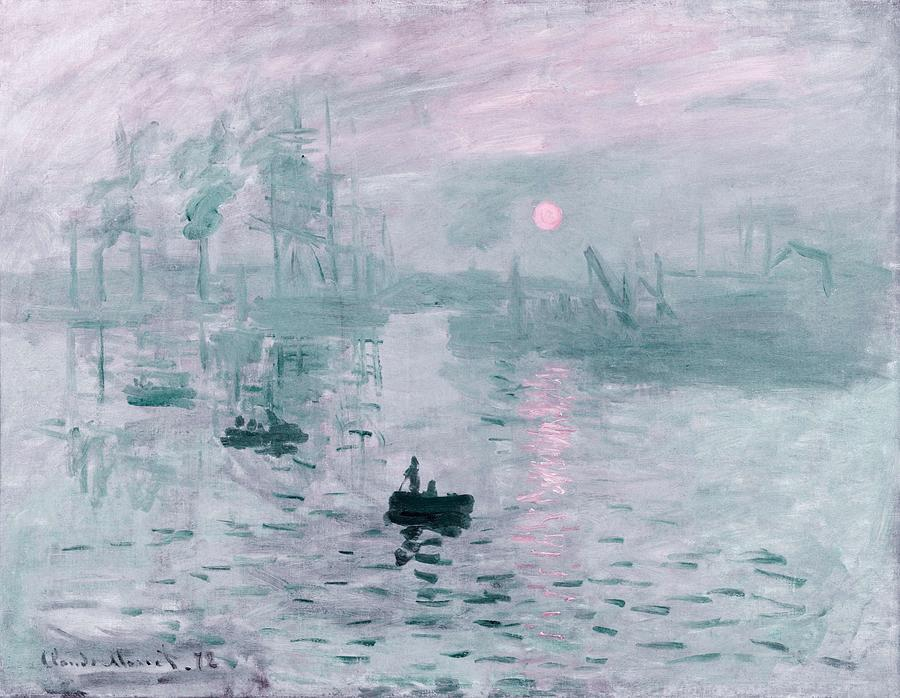 Nature Painting - Impression, Sunrise By Claude Monet -  Infrared Version by Ahmet Asar