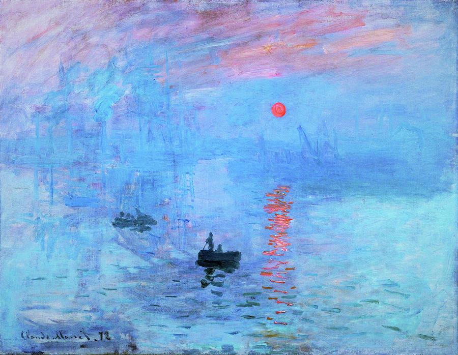 ART PRINT Impression Sunrise green by Claude Monet