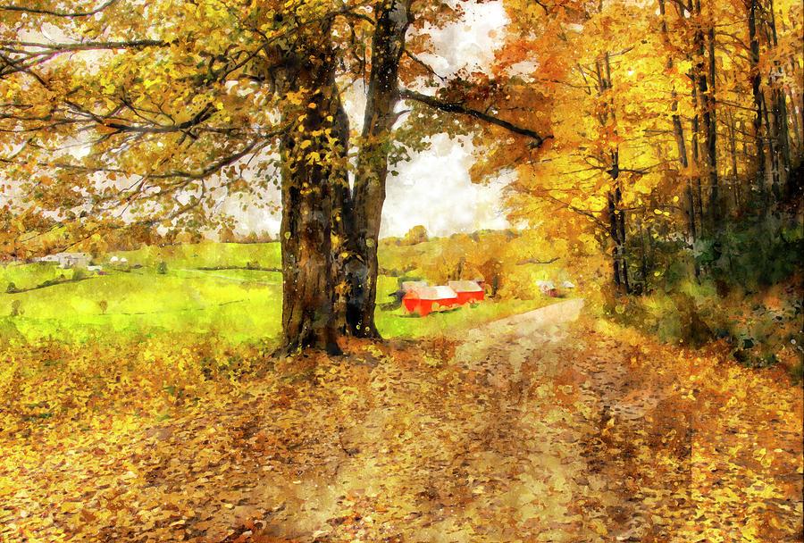 Impressionist Painter visits the Jenne Farm by Gordon Ripley