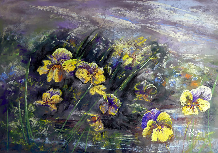 Impressionist Pansy Pond by Ryn Shell