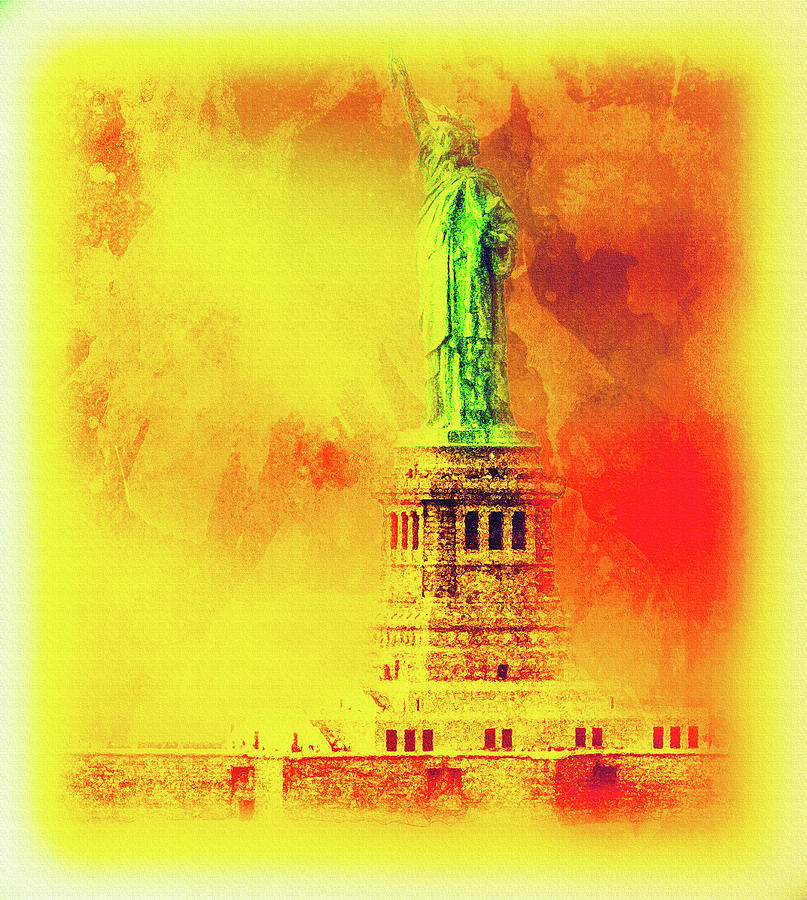 Impressionistic Statue of Liberty by Max Huber