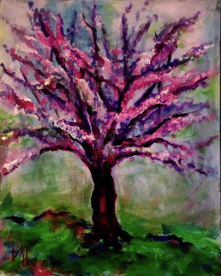 Tree Painting - Impressions of Autumn 2 by Art by Kar