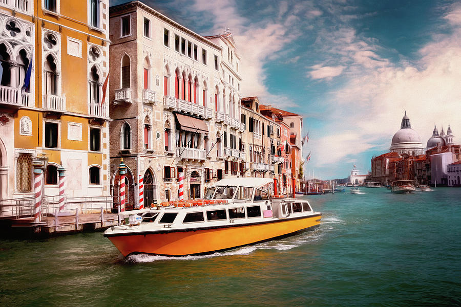 Impressions of The Grand Canal Venice Italy  by Carol Japp