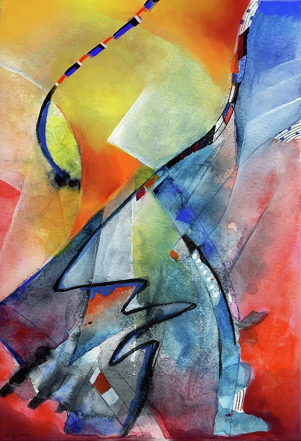 improvisation red yellow blue by Wolfgang Schweizer