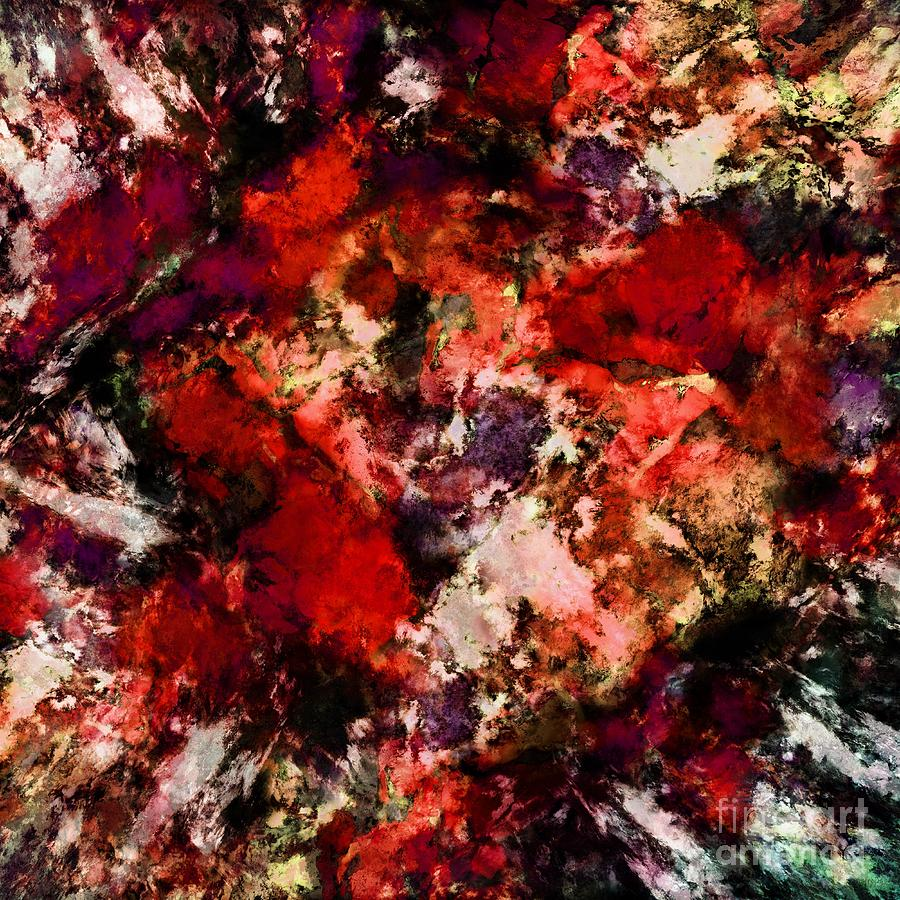 Red Digital Art - Impulse 3 by Keith Mills