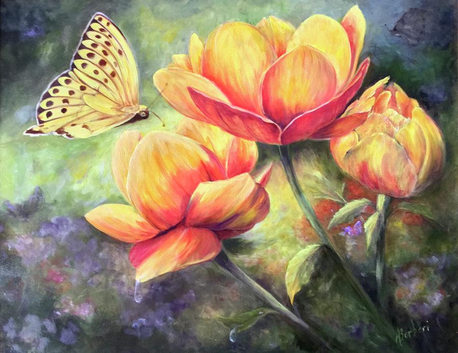 Flowers Painting - In Bloom by Anne Barberi