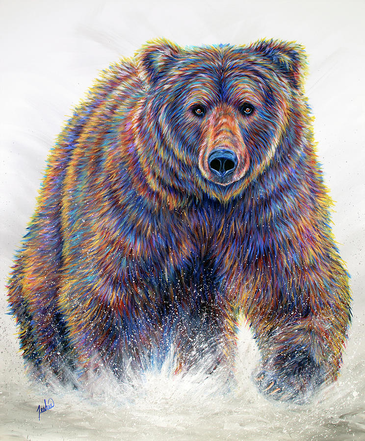 Bear Painting - In Charge by Teshia Art