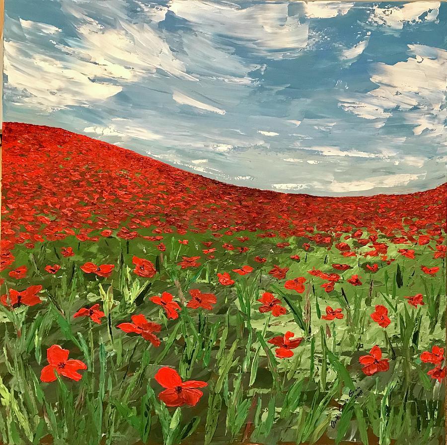 In Flanders Fields the Poppies Blow  by Ovidiu Ervin Gruia