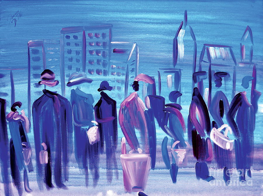 Cleveland Painting - In Line Cle by JoAnn DePolo