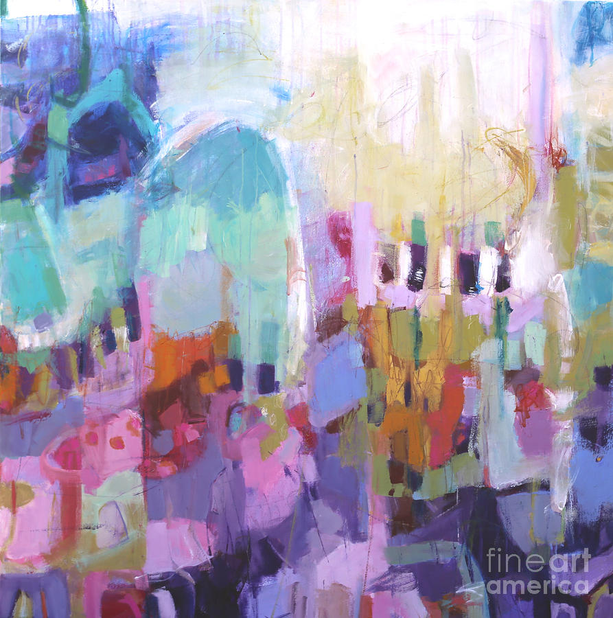 Abstract Painting Painting - In Love by Elizabeth Chapman
