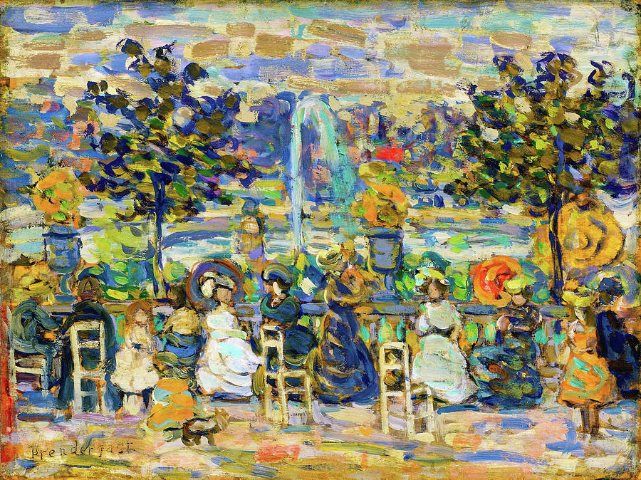 Usa Painting - In Luxembourg Gardens - Digital Remastered Edition by Maurice Brazil Prendergast