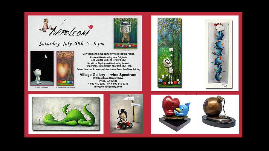Art Show Painting - In Person at Village Gallery by Fabio Napoleoni