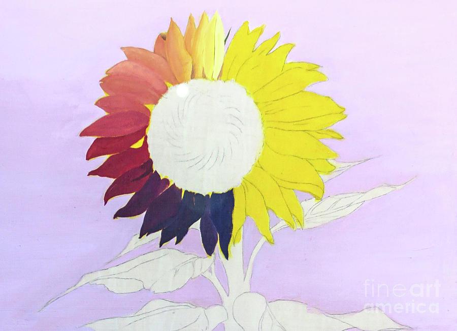 In progress color wheel by Nila Jane Autry
