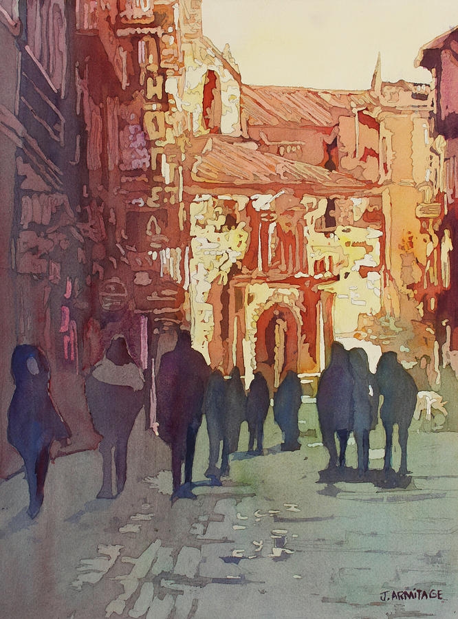 Salamanca Painting - In Salamanca by Jenny Armitage
