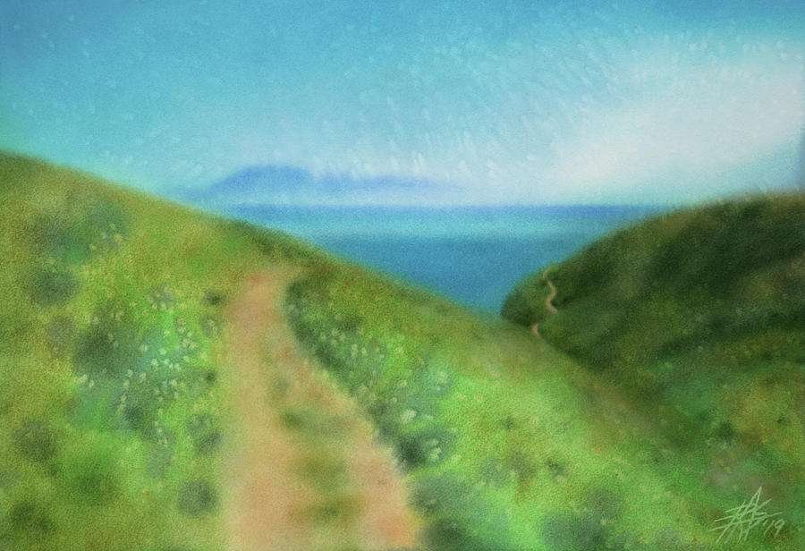 Landscape Painting - In Search Of Island Foxes by Robin Street-Morris