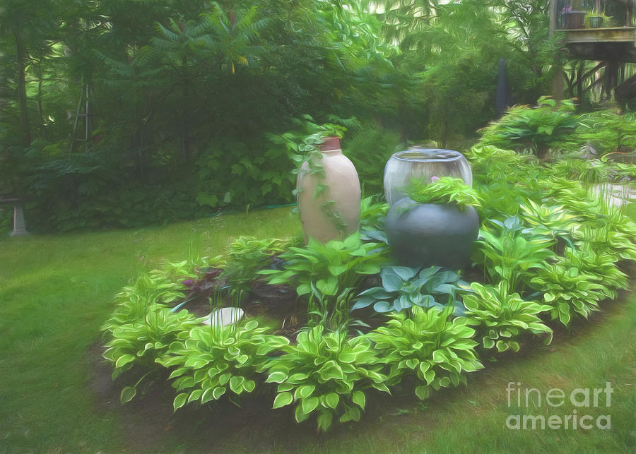 Garden Tour Photograph - In Summer Shade by Marilyn Cornwell