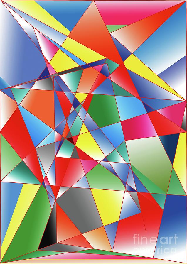 Cubist Digital Art - In The Air by Alex Caminker