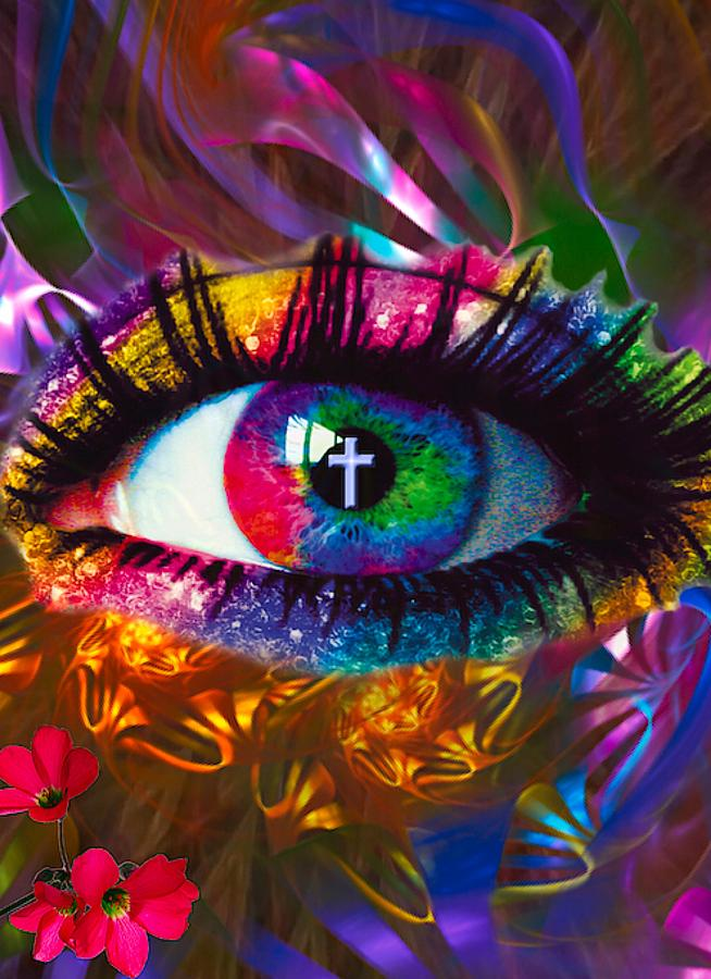 Spiritual Digital Art - In The Eye Of The Beholder by Susan Chasteen