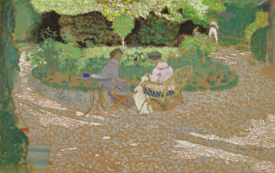 Edouard Vuillard Painting - In The Garden, 1898 by Edouard Vuillard