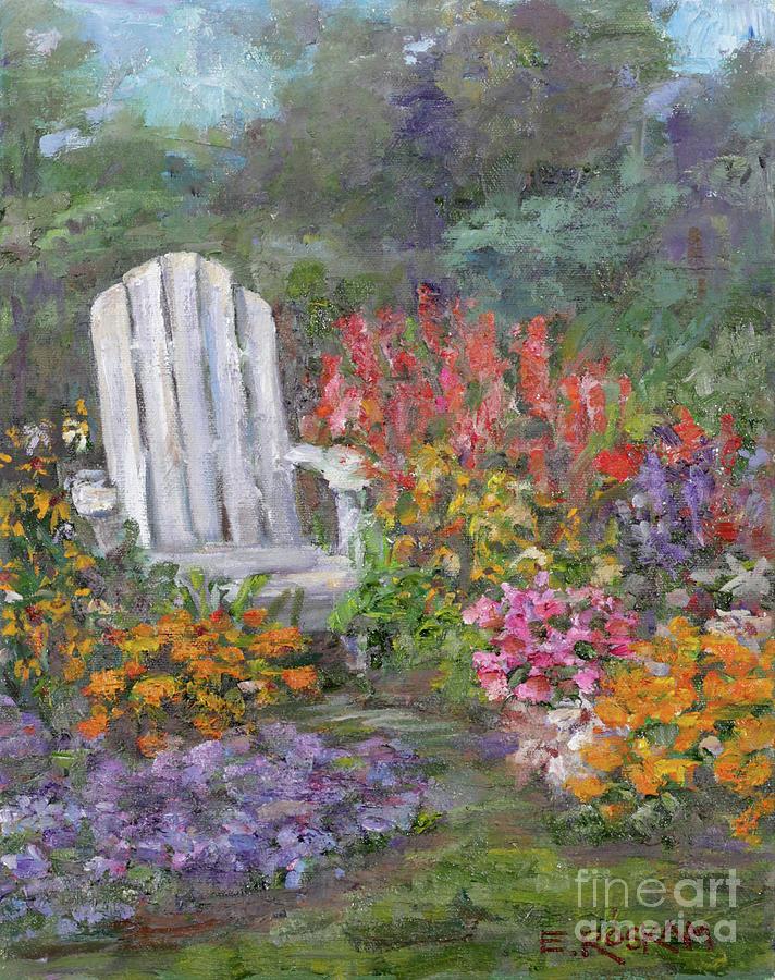 Garden Painting - In The Garden by Elizabeth Roskam