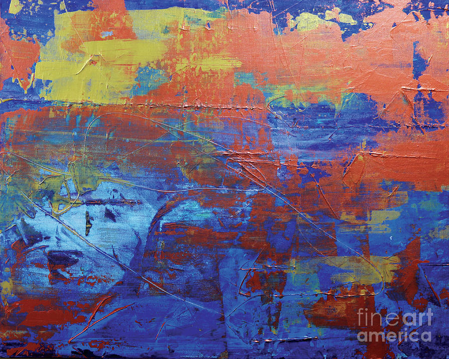 Abstract Painting - In The Horizon L by JoAnn DePolo