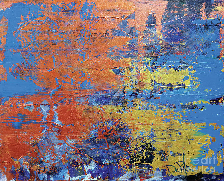 Abstract Painting - In The Horizon Ll by JoAnn DePolo
