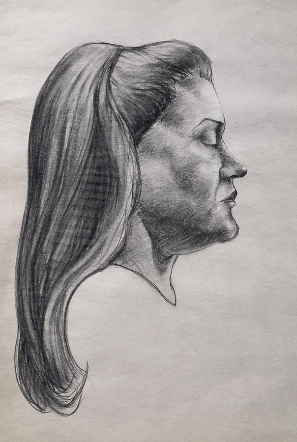 Charcoal Drawing - In The Mind by Joseph Demaree