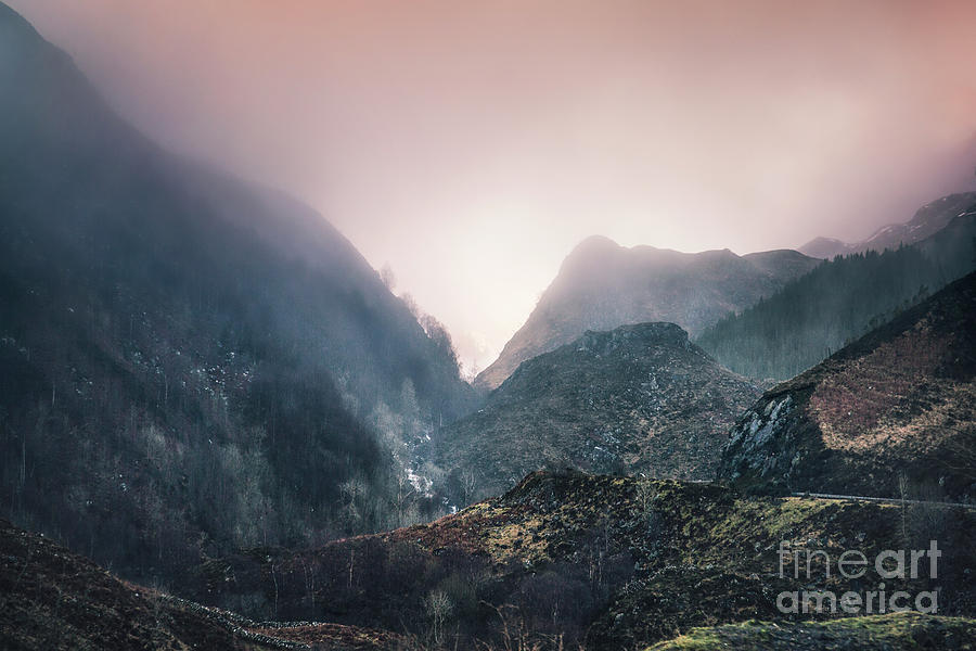 In The Mist Of The Hills Photograph