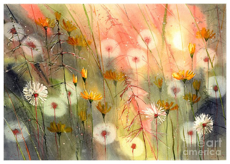 Watercolor Painting - In The Morning Haze by Suzann Sines
