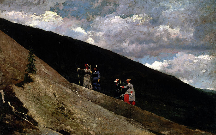 Winslow Homer Painting - In The Mountains, 1877 by Winslow Homer