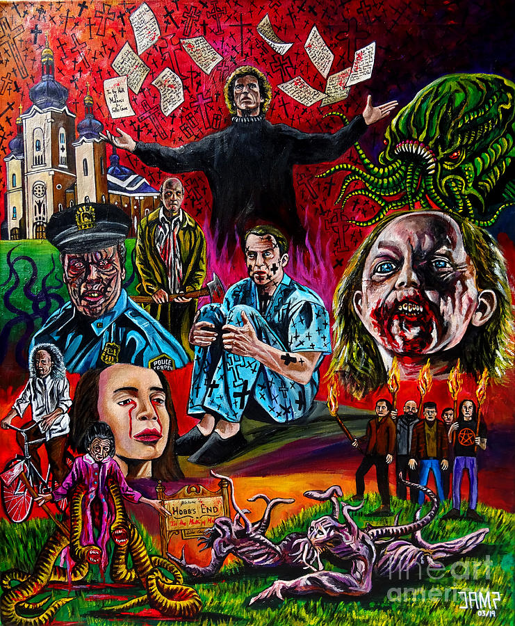 John Carpenter Painting - In the Mouth of Madness by Jose Mendez