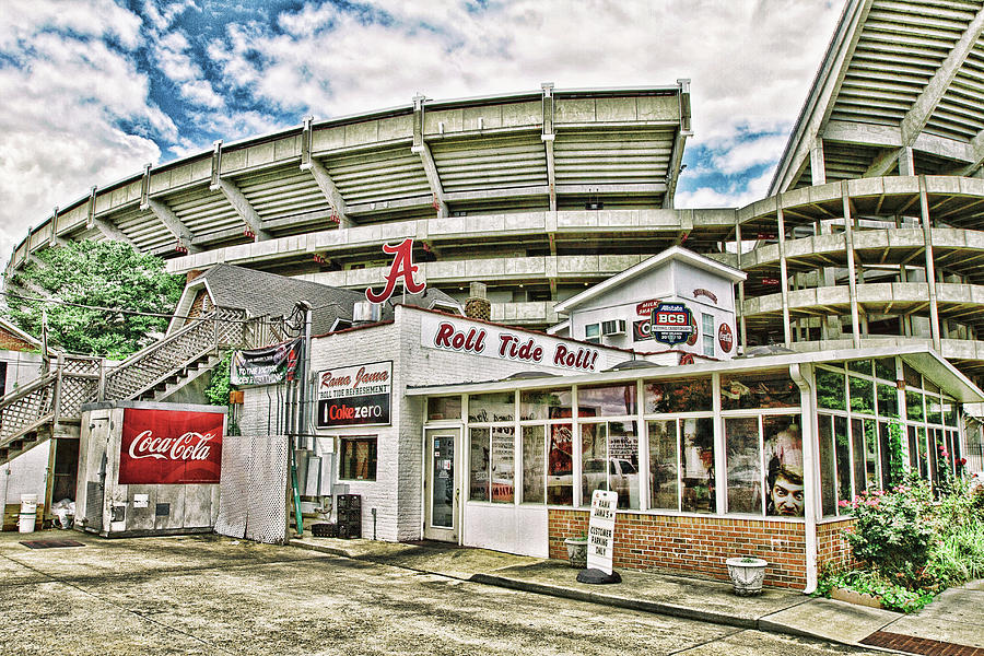 Hdr Photograph - In the Shadow of the Stadium - HDR by Scott Pellegrin
