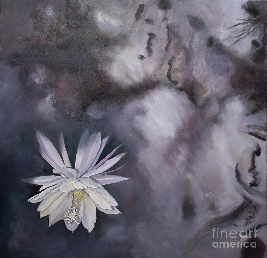 In the Shadows-Night Blooming Cereus by Anne Cameron Cutri