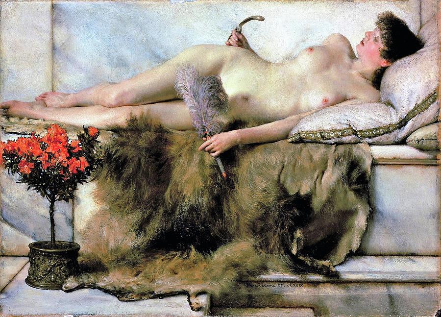 Lawrence Alma-tadema Painting - In The Tepidarium - Digital Remastered Edition by Lawrence Alma-Tadema