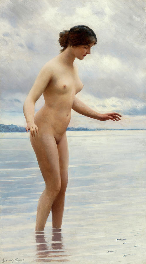 Eugen Von Blaas Painting - In The Water by Eugen von Blaas
