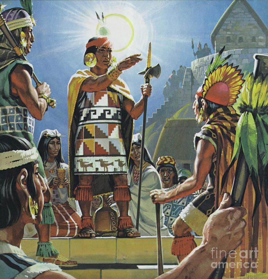 South American Painting - Incas by Angus McBride