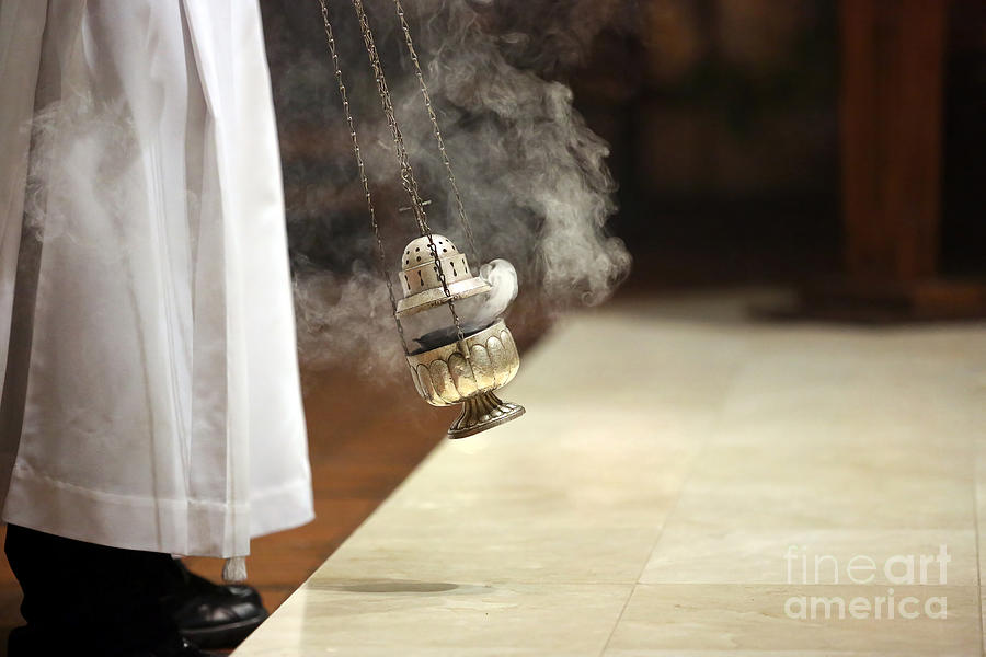 Religious Photograph - Incense During Mass At The Altar by Wideonet
