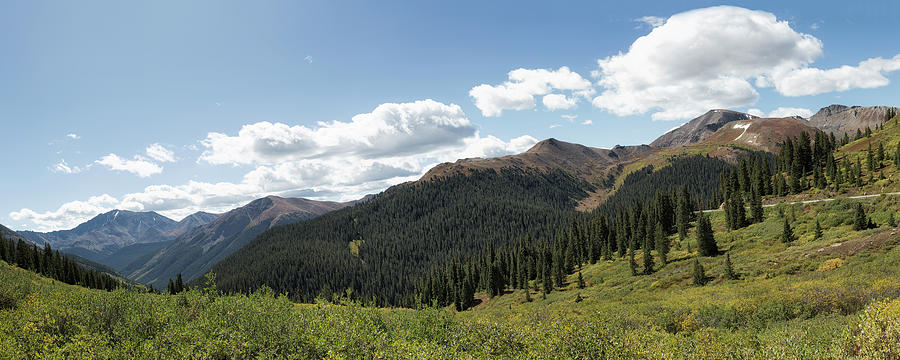 Independence Pass Summit Panorama by Belinda Greb