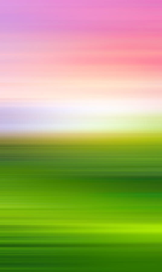 India Photograph - India Colors - Abstract Green and Pink Panorama by Stefano Senise
