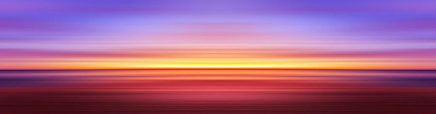 India Photograph - India Colors - Abstract Wide Sunset 3 by Stefano Senise