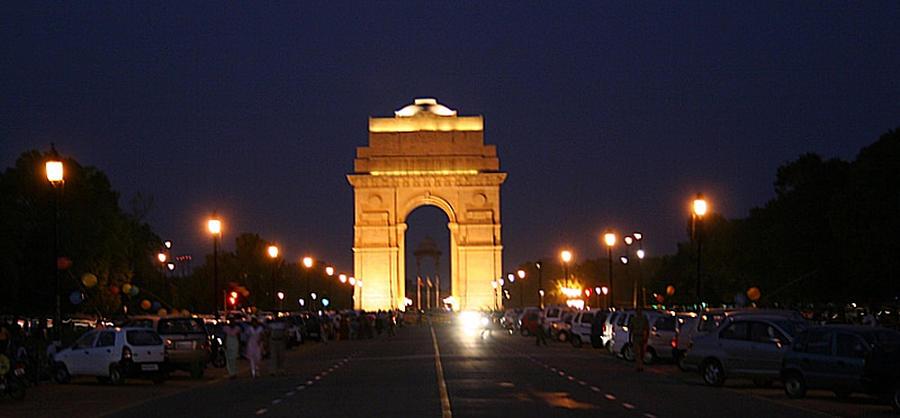 India Gate At Night Photograph by Ramesh Lalwani