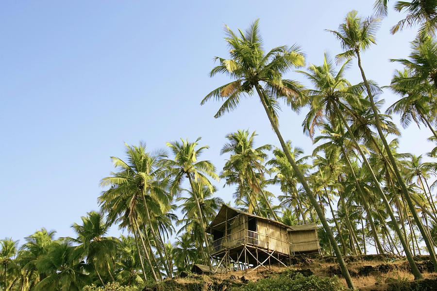 India, Goa, Beach Huts On Palolem Photograph by Sydney James
