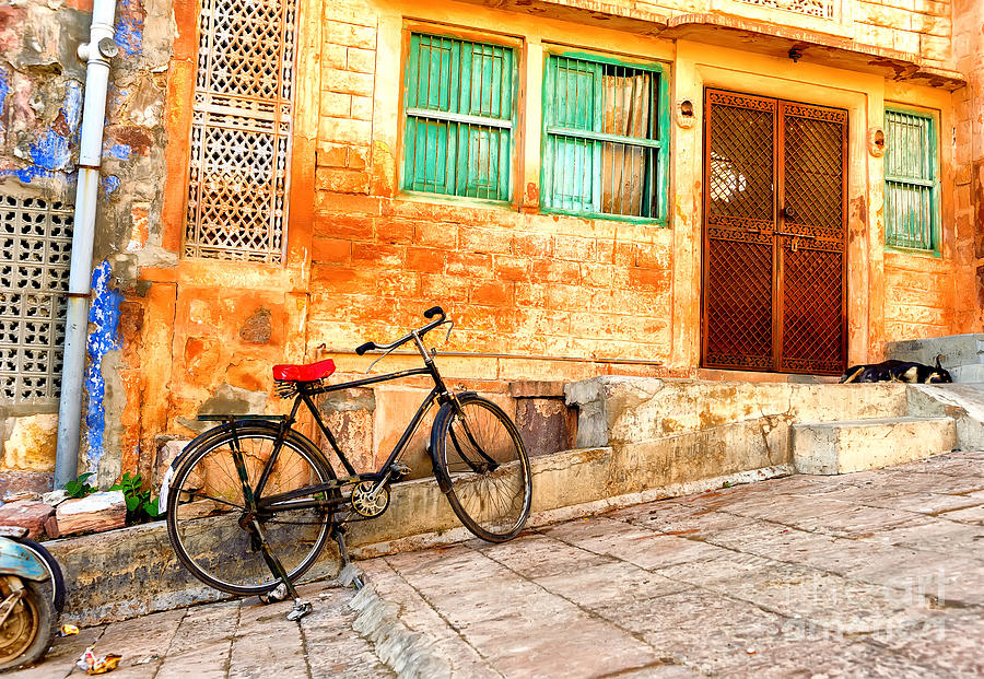 Bicycle Photograph - India. Indian Street In Rajasthan by Banana Republic Images