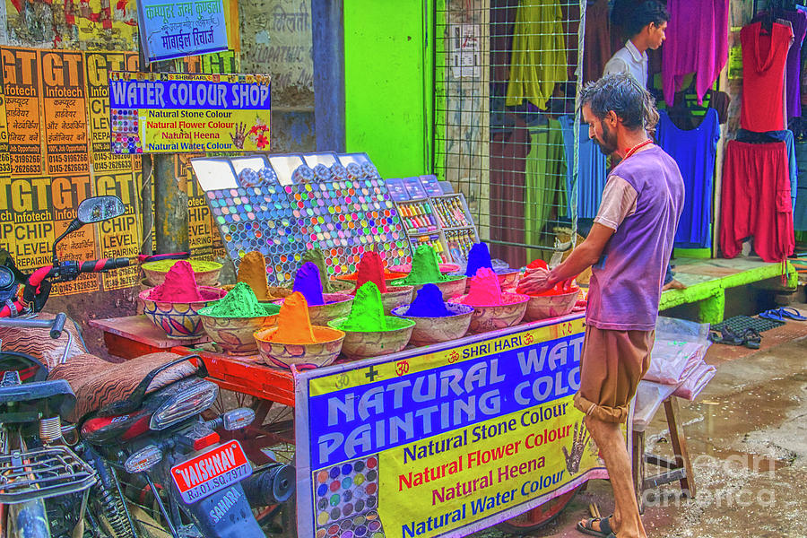 Colors Photograph - India - Natural Colour Seller  by Stefano Senise